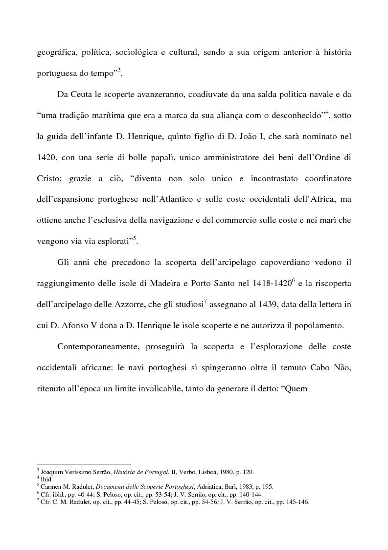 Anteprima della tesi: Il Creolo: lingua madre, simbolo dell'identità culturale nazionale del popolo capoverdiano, Pagina 3