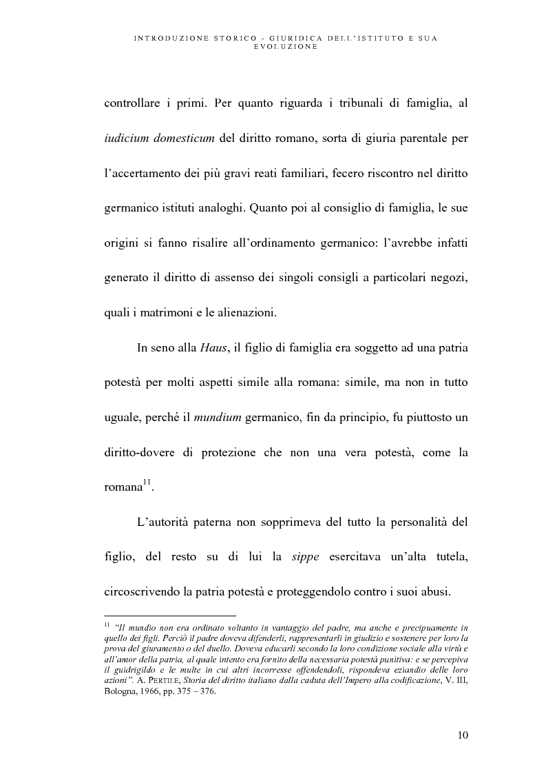 Anteprima della tesi: L'abuso della potestà genitoriale, Pagina 10