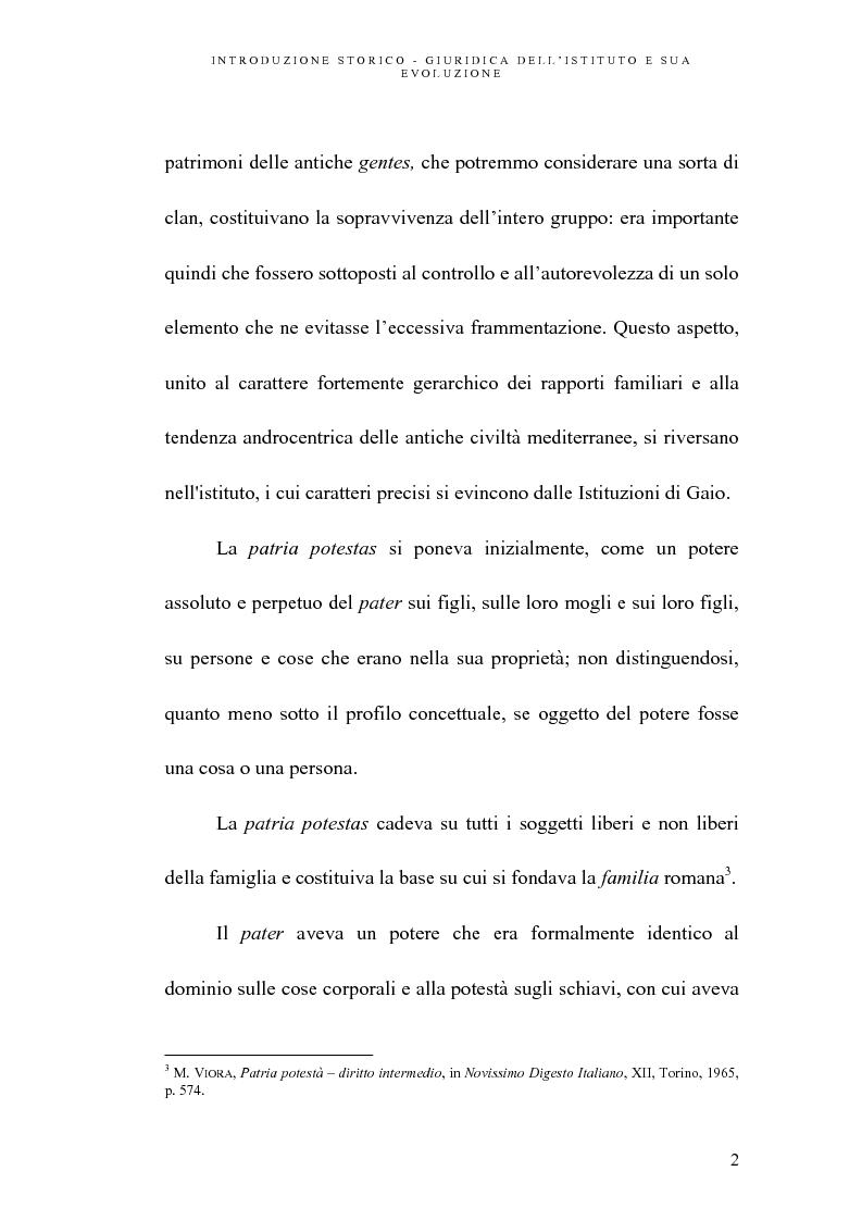 Anteprima della tesi: L'abuso della potestà genitoriale, Pagina 2
