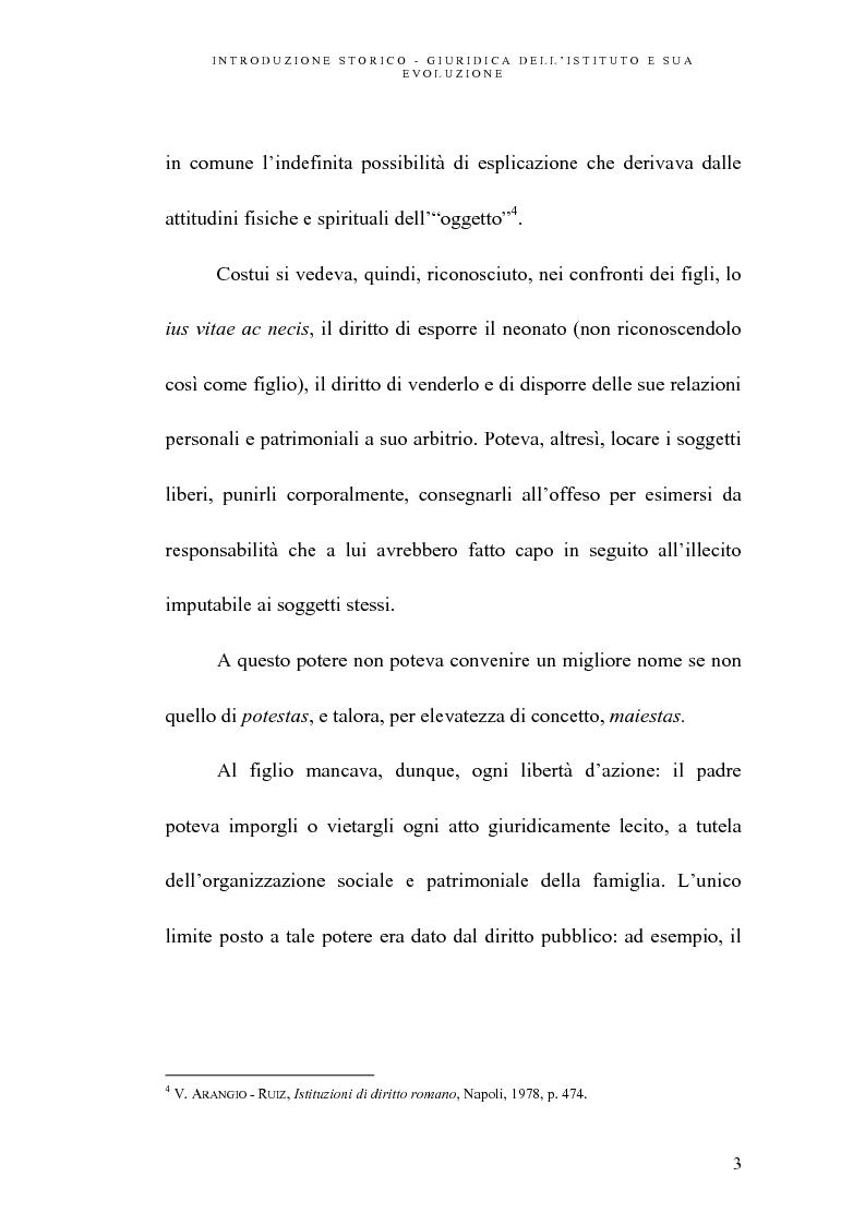 Anteprima della tesi: L'abuso della potestà genitoriale, Pagina 3