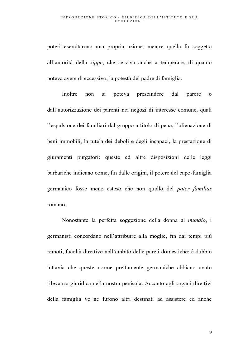 Anteprima della tesi: L'abuso della potestà genitoriale, Pagina 9