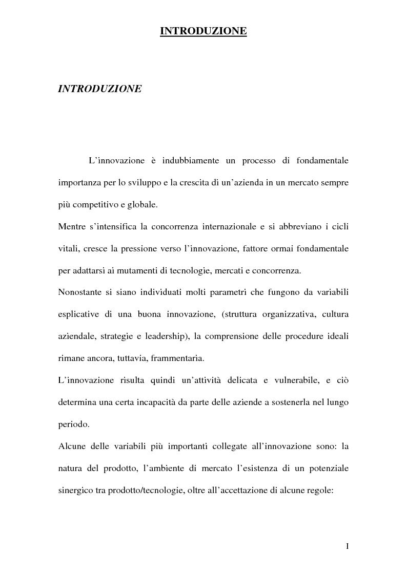 Anteprima della tesi: Strategie innovative e metodologie di appropriazione di una innovazione, Pagina 1