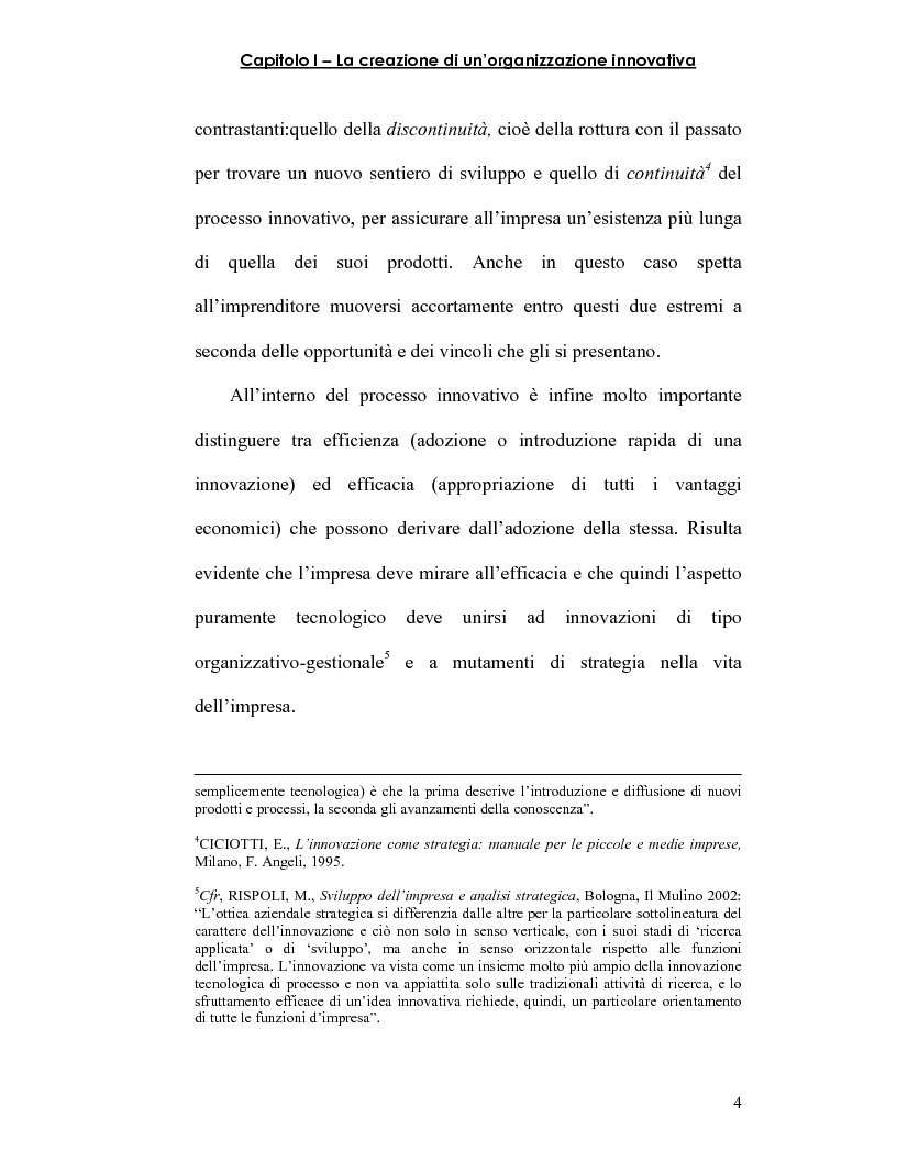 Anteprima della tesi: Strategie innovative e metodologie di appropriazione di una innovazione, Pagina 7