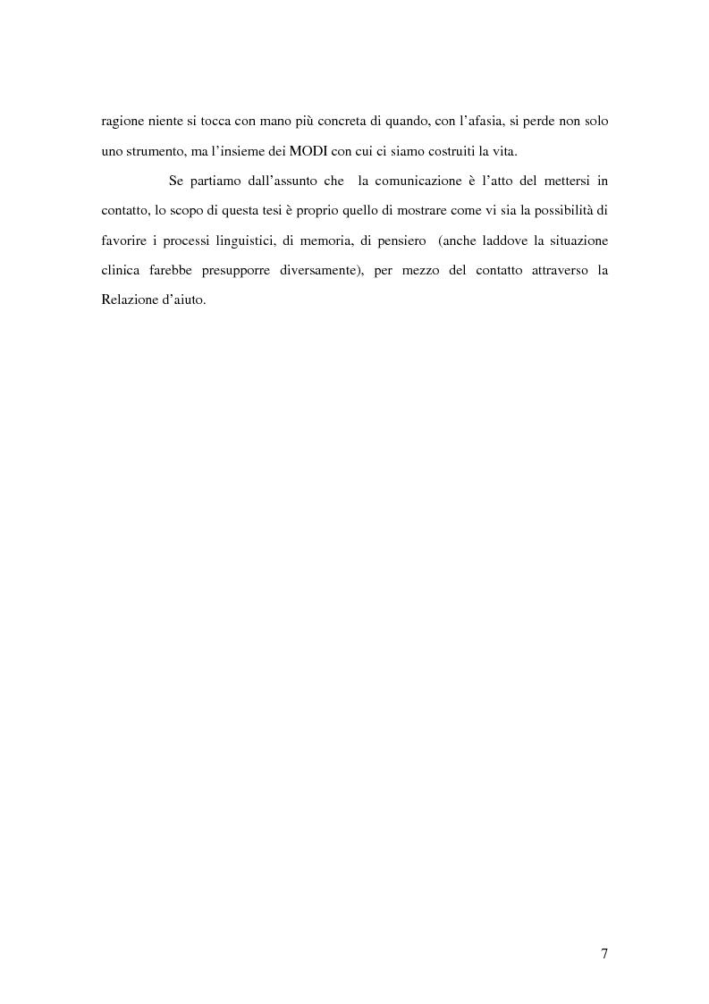 Anteprima della tesi: Counselling e relazione d'aiuto in logopedia: applicazione nell'ambito della terapia con un Traumatizzato Cranio Encefalico, Pagina 4
