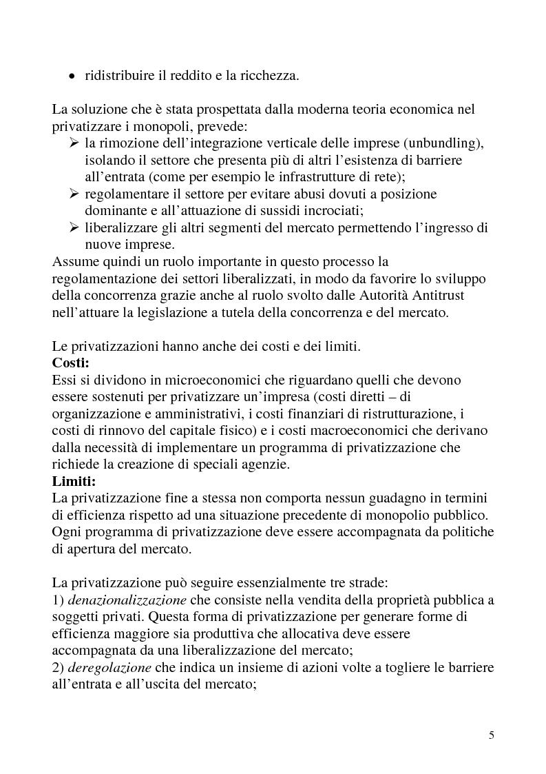 Anteprima della tesi: Le privatizzazioni in Italia. Il caso Enel, Pagina 2
