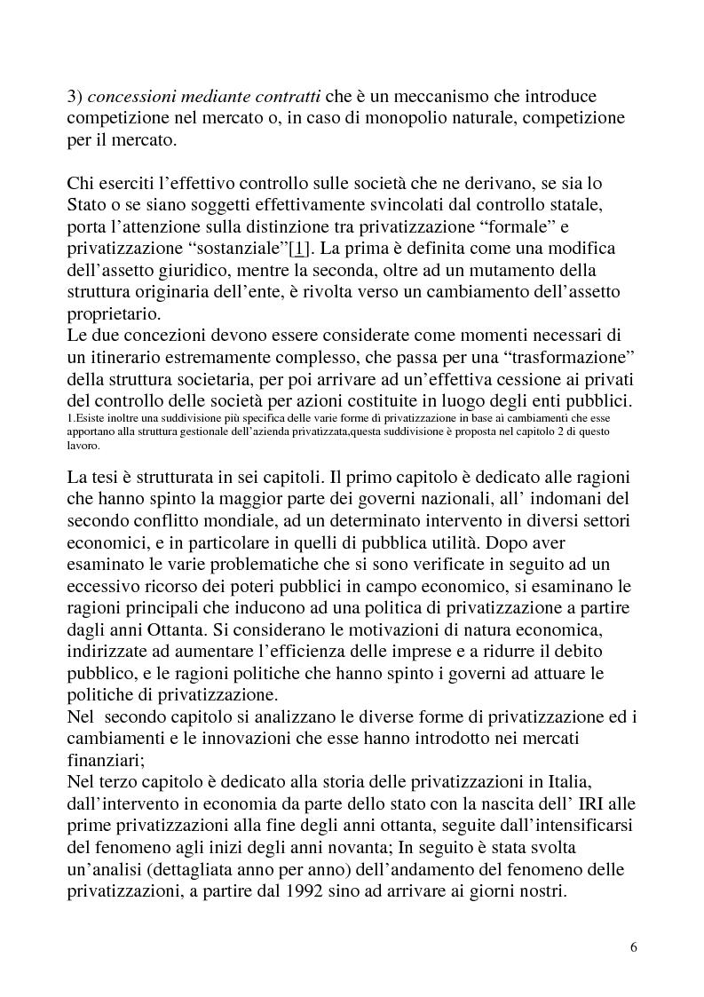 Anteprima della tesi: Le privatizzazioni in Italia. Il caso Enel, Pagina 3