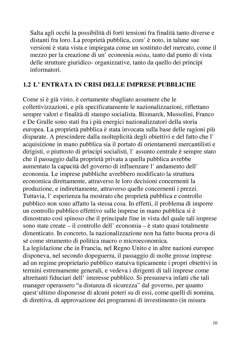 Anteprima della tesi: Le privatizzazioni in Italia. Il caso Enel, Pagina 7