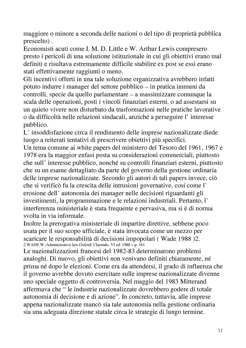 Anteprima della tesi: Le privatizzazioni in Italia. Il caso Enel, Pagina 8