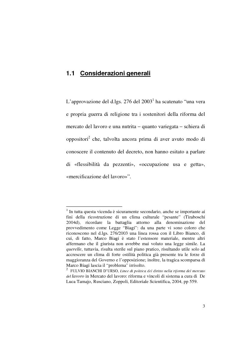 Anteprima della tesi: Il Contratto di Lavoro Intermittente, Pagina 1