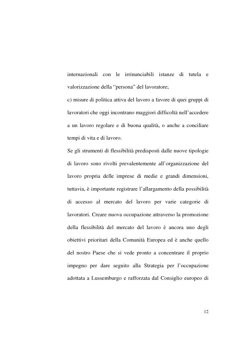 Anteprima della tesi: Il Contratto di Lavoro Intermittente, Pagina 10