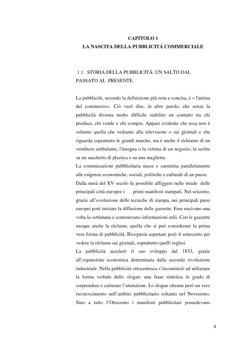 Anteprima della tesi: La pubblicità mitica, Pagina 1