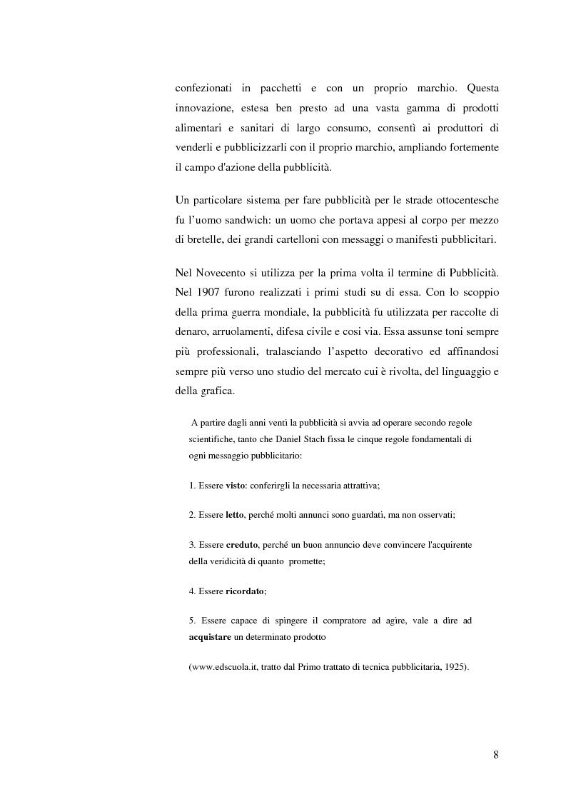 Anteprima della tesi: La pubblicità mitica, Pagina 5