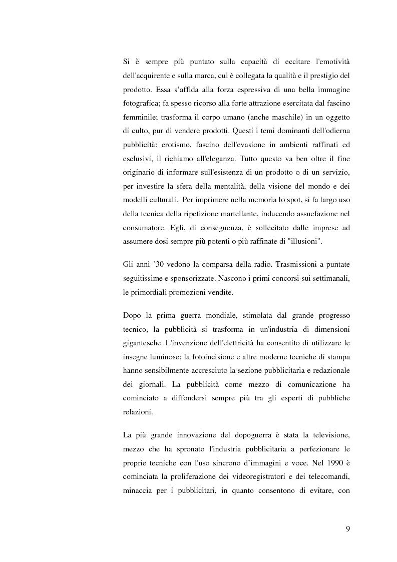 Anteprima della tesi: La pubblicità mitica, Pagina 6