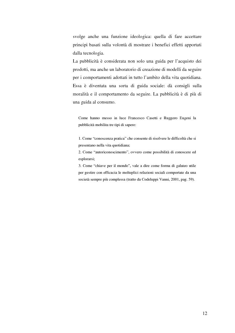 Anteprima della tesi: La pubblicità mitica, Pagina 9