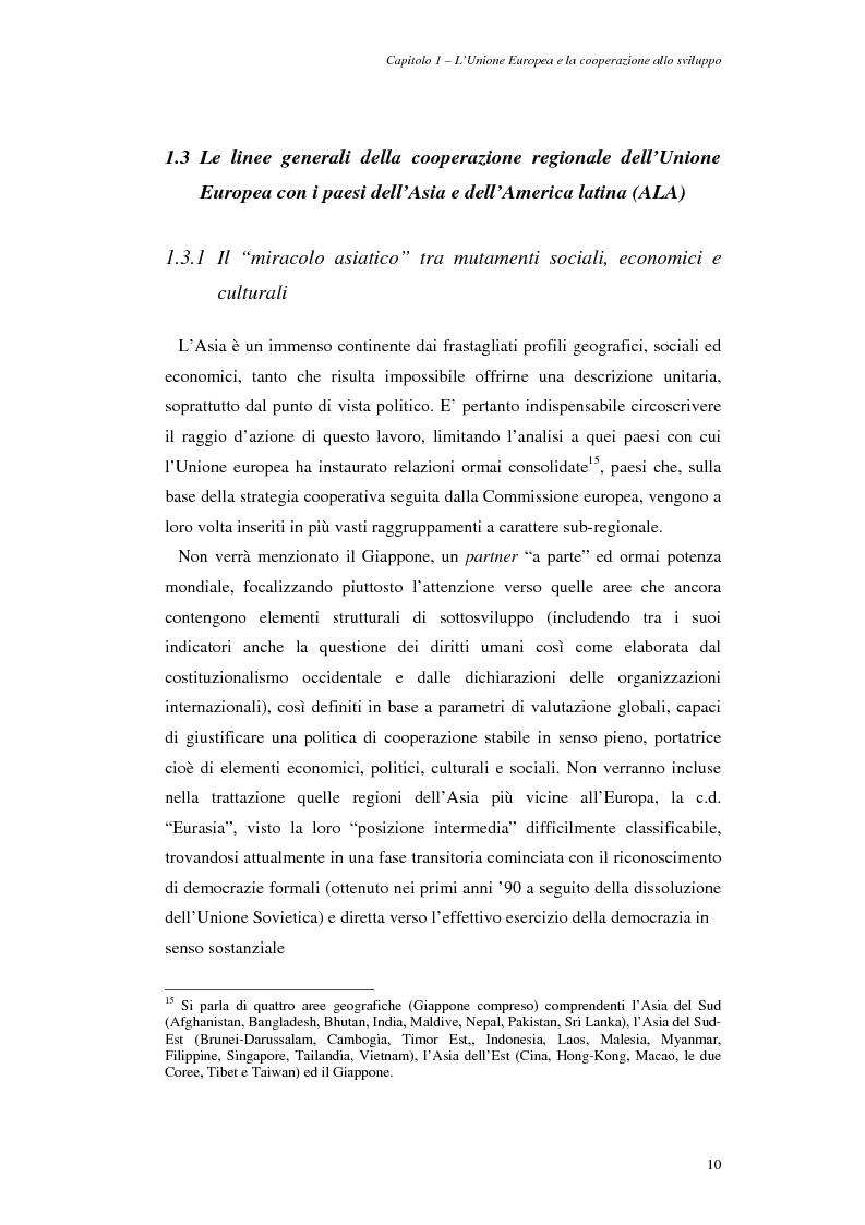 Anteprima della tesi: La cooperazione allo sviluppo dell'Unione europea con l'Asia, Pagina 10