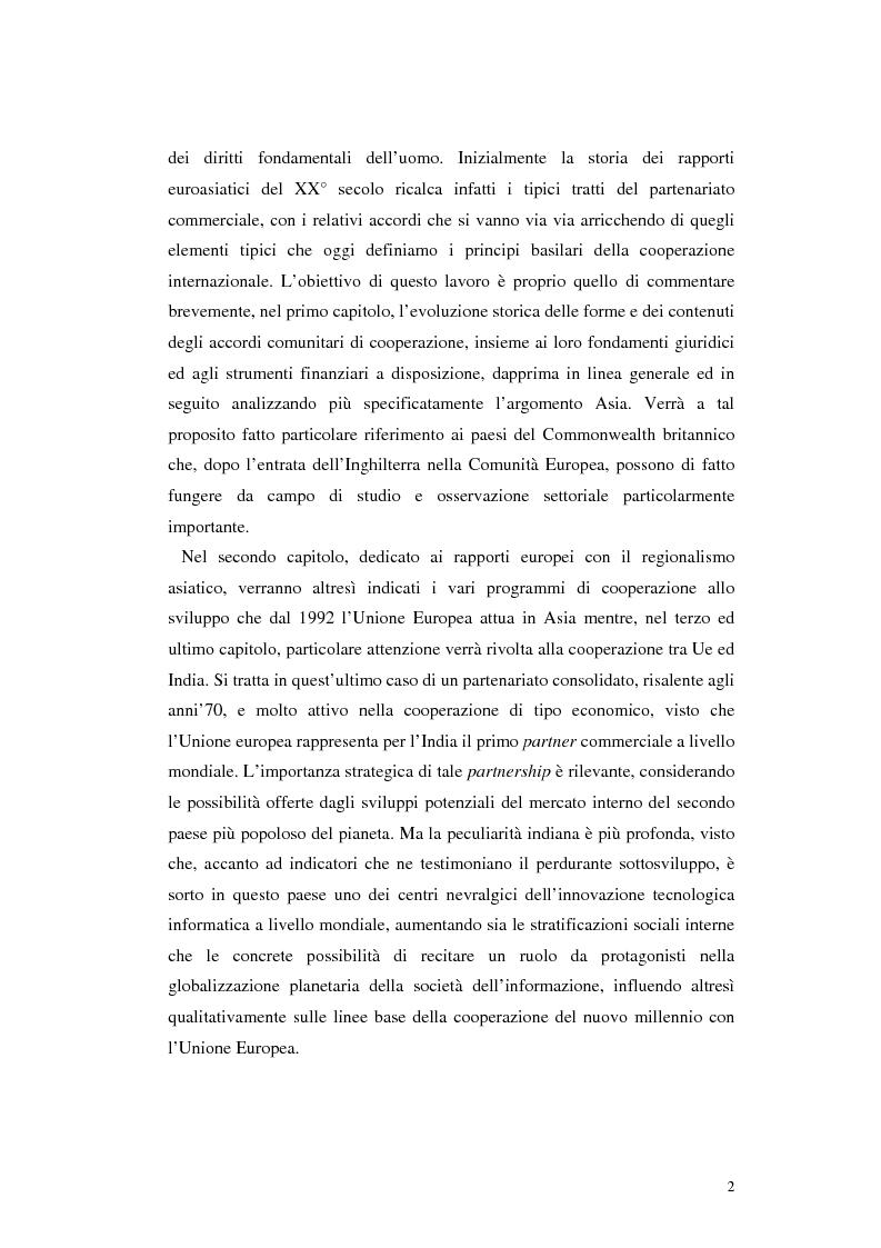 Anteprima della tesi: La cooperazione allo sviluppo dell'Unione europea con l'Asia, Pagina 2