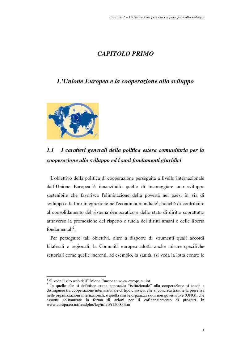 Anteprima della tesi: La cooperazione allo sviluppo dell'Unione europea con l'Asia, Pagina 3