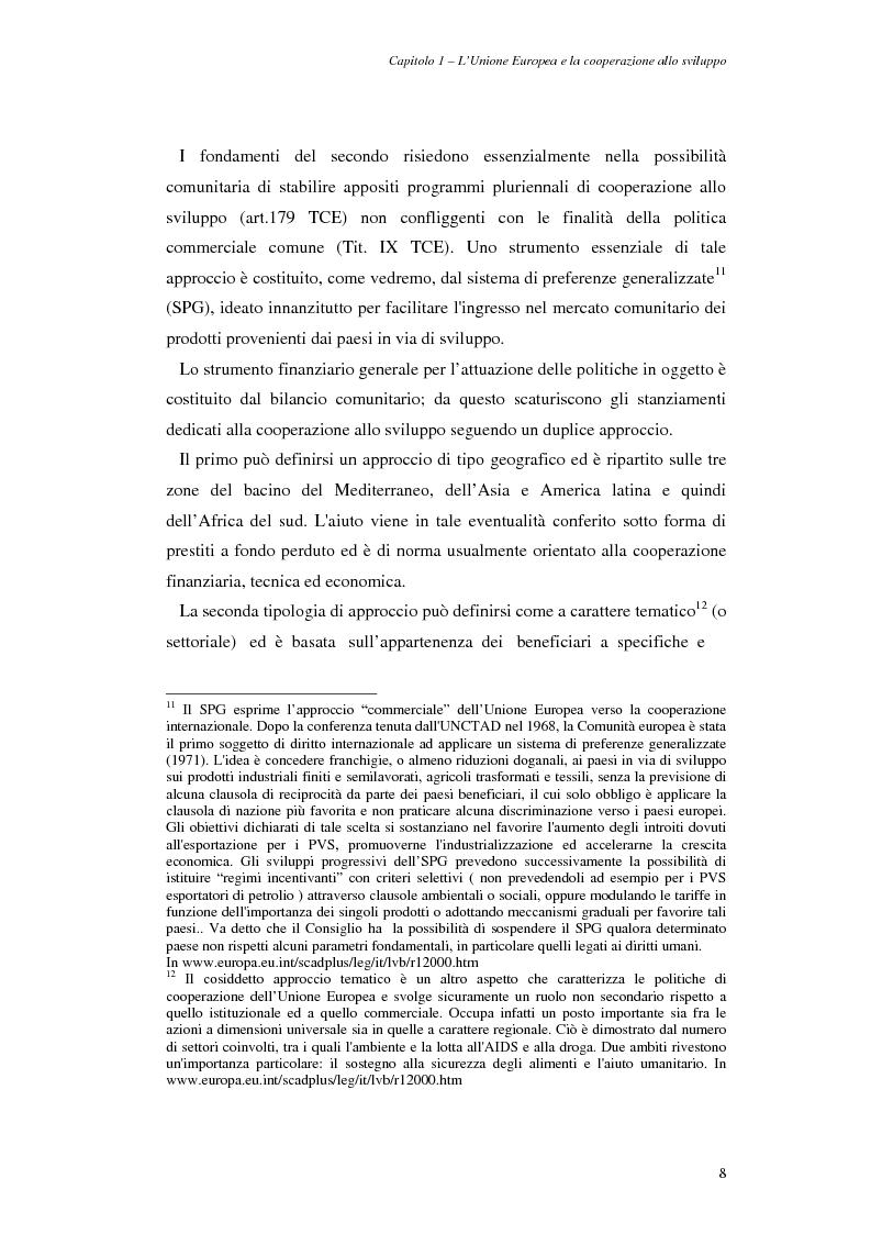 Anteprima della tesi: La cooperazione allo sviluppo dell'Unione europea con l'Asia, Pagina 8