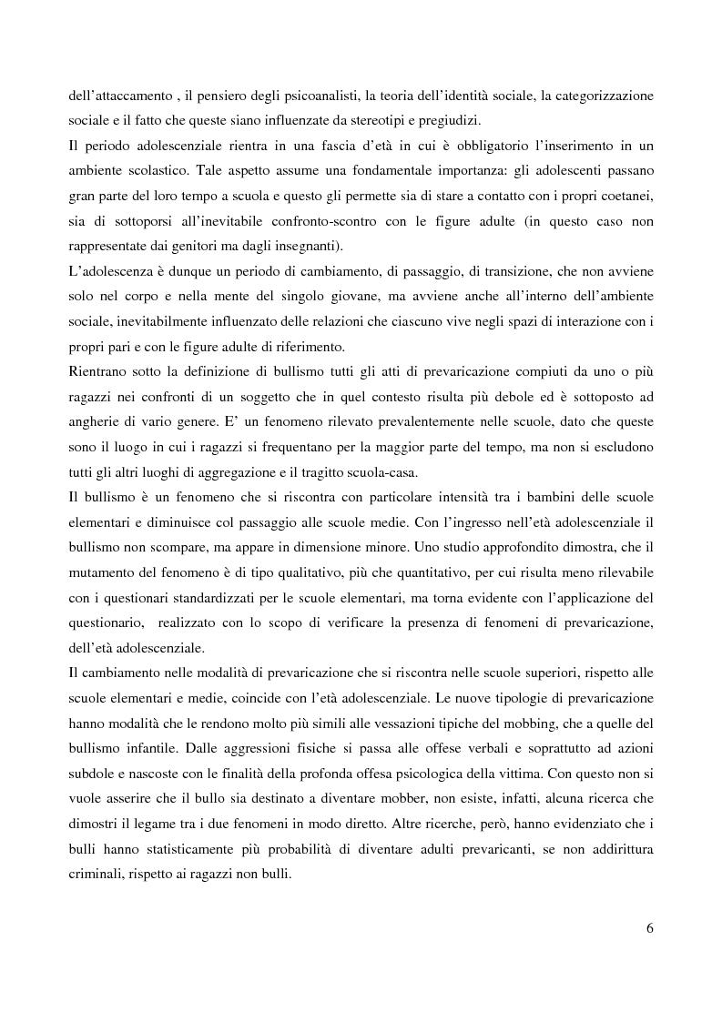 Anteprima della tesi: Il bullismo adolescenziale. Uno studio condotto nel sulcis iglesiente, Pagina 2