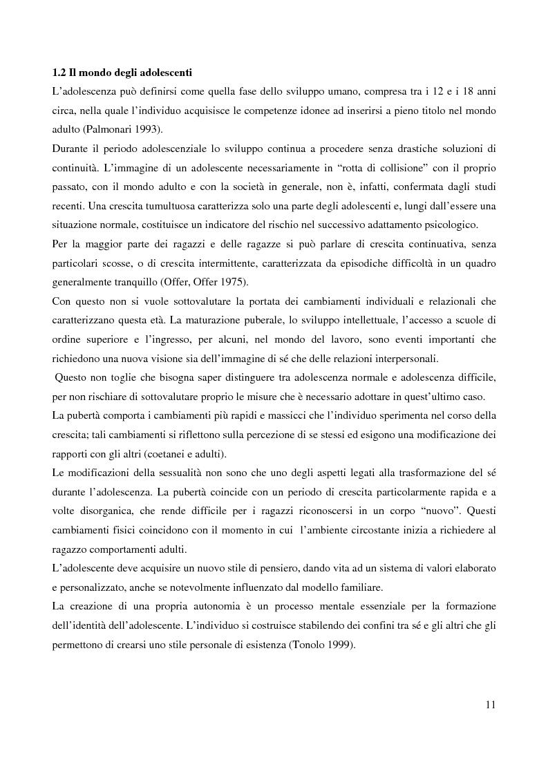 Anteprima della tesi: Il bullismo adolescenziale. Uno studio condotto nel sulcis iglesiente, Pagina 7