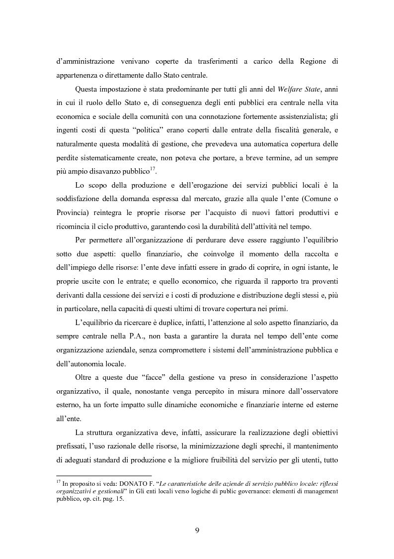Anteprima della tesi: La certificazione di qualità negli Enti Locali: l'esperienza d'avanguardia della Provincia di Ferrara, Pagina 10