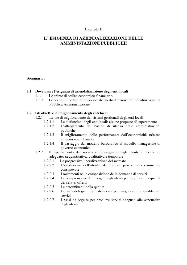 Anteprima della tesi: La certificazione di qualità negli Enti Locali: l'esperienza d'avanguardia della Provincia di Ferrara, Pagina 4
