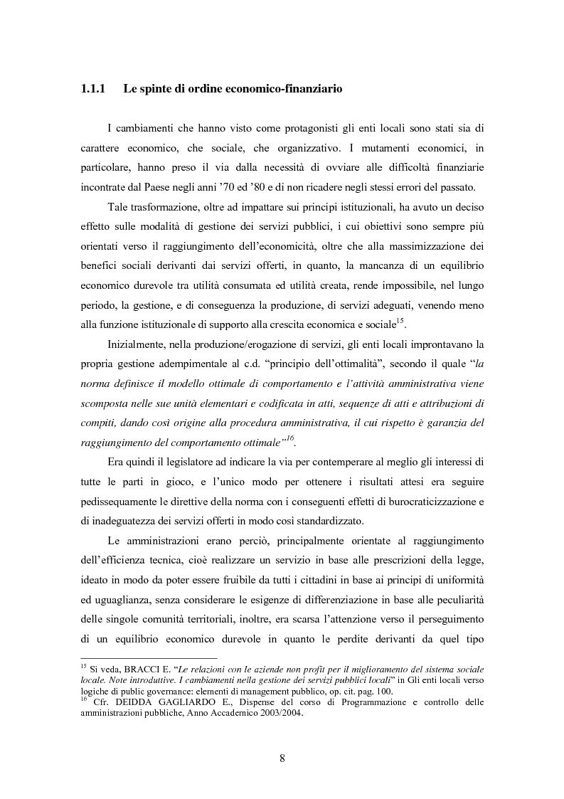 Anteprima della tesi: La certificazione di qualità negli Enti Locali: l'esperienza d'avanguardia della Provincia di Ferrara, Pagina 9