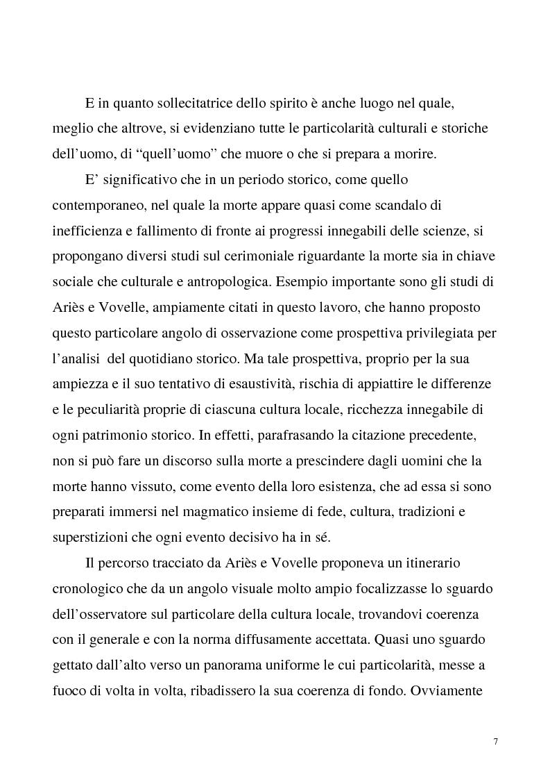 Anteprima della tesi: La luce nella tomba. Fede, ideologie e strategie di fronte alla morte nella Castelvetrano di sec. XVI e XVII, Pagina 2