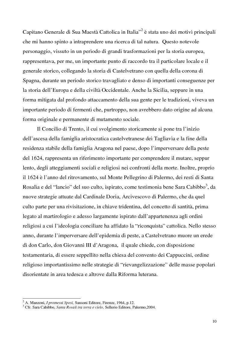 Anteprima della tesi: La luce nella tomba. Fede, ideologie e strategie di fronte alla morte nella Castelvetrano di sec. XVI e XVII, Pagina 5
