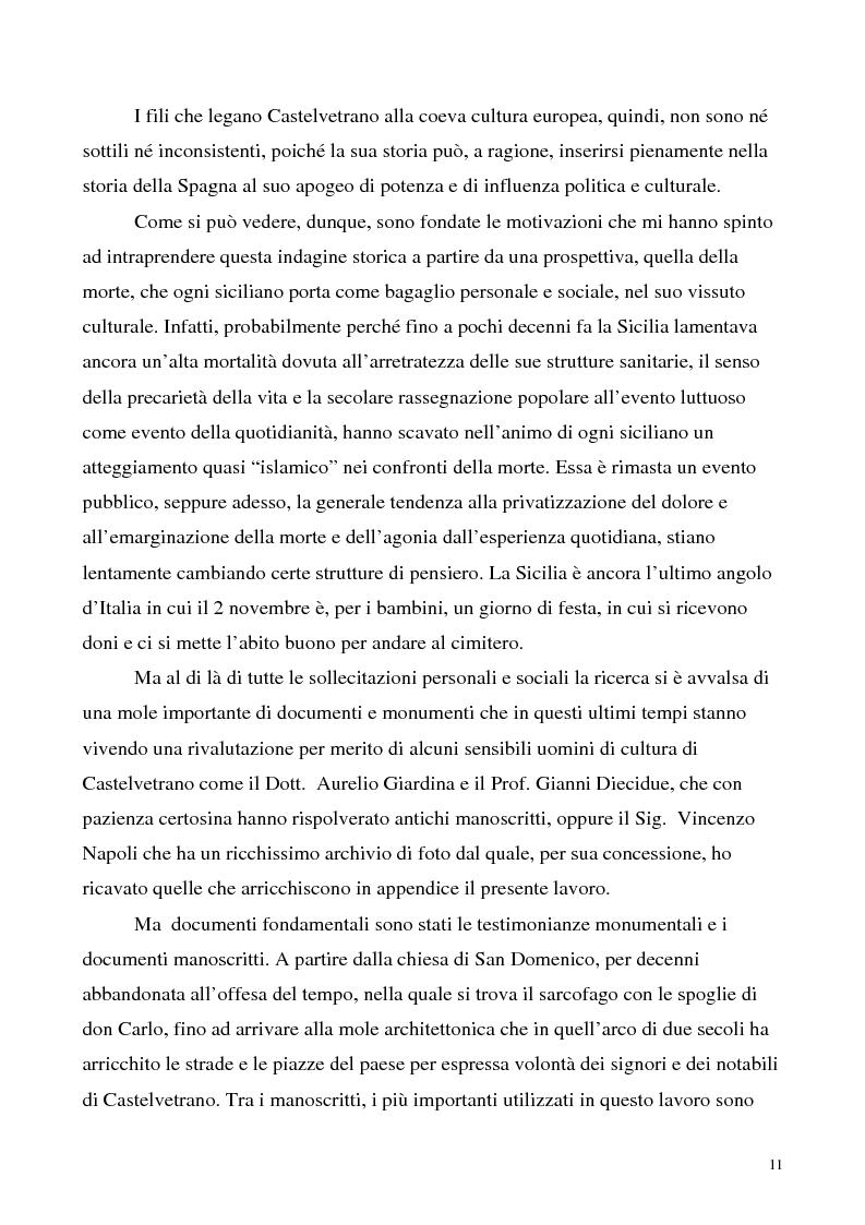 Anteprima della tesi: La luce nella tomba. Fede, ideologie e strategie di fronte alla morte nella Castelvetrano di sec. XVI e XVII, Pagina 6
