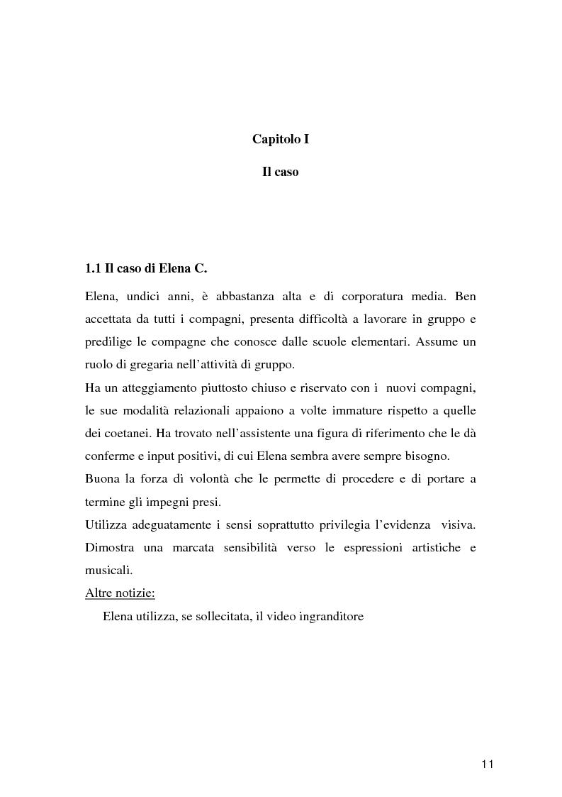 Anteprima della tesi: Tecnologie per un alunno ipovedente nella scuola dell'obbligo, Pagina 6