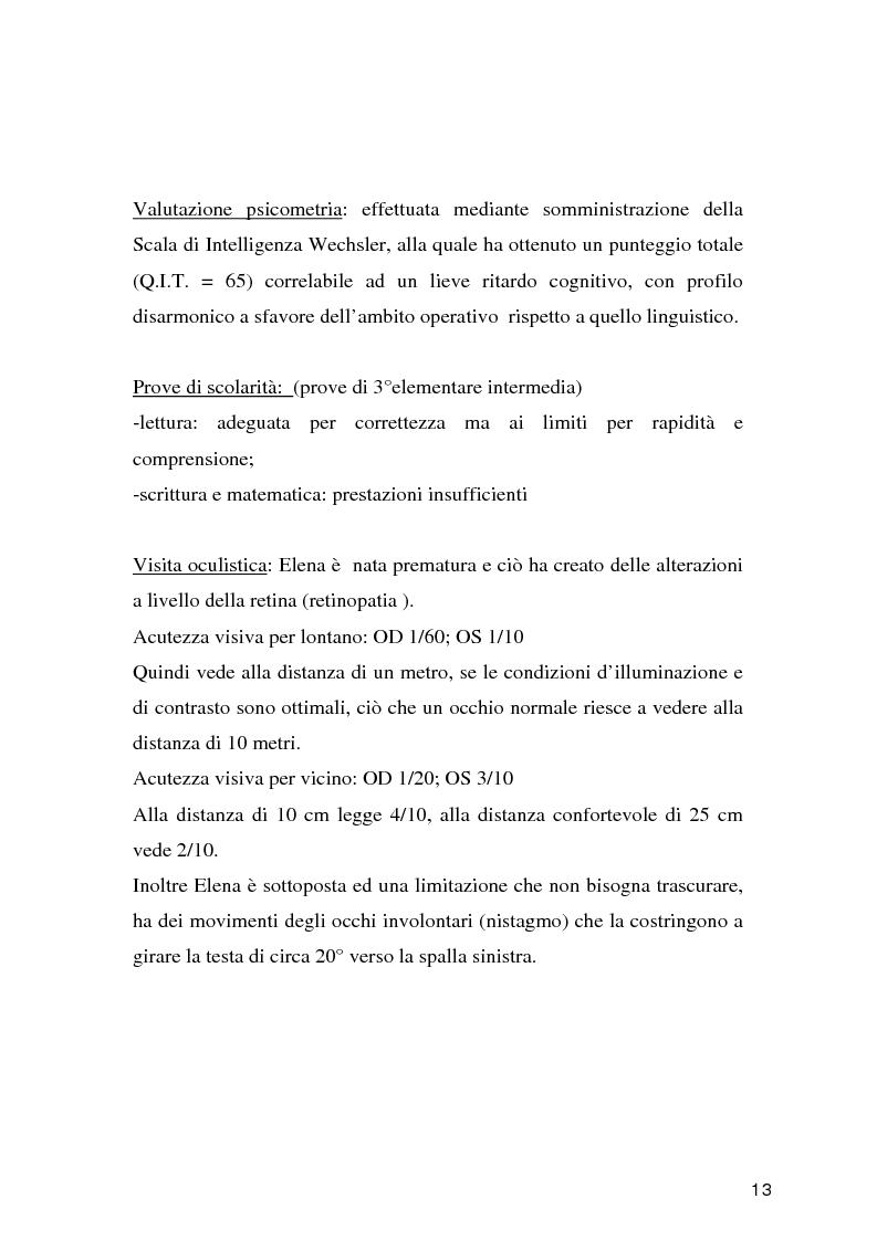 Anteprima della tesi: Tecnologie per un alunno ipovedente nella scuola dell'obbligo, Pagina 8