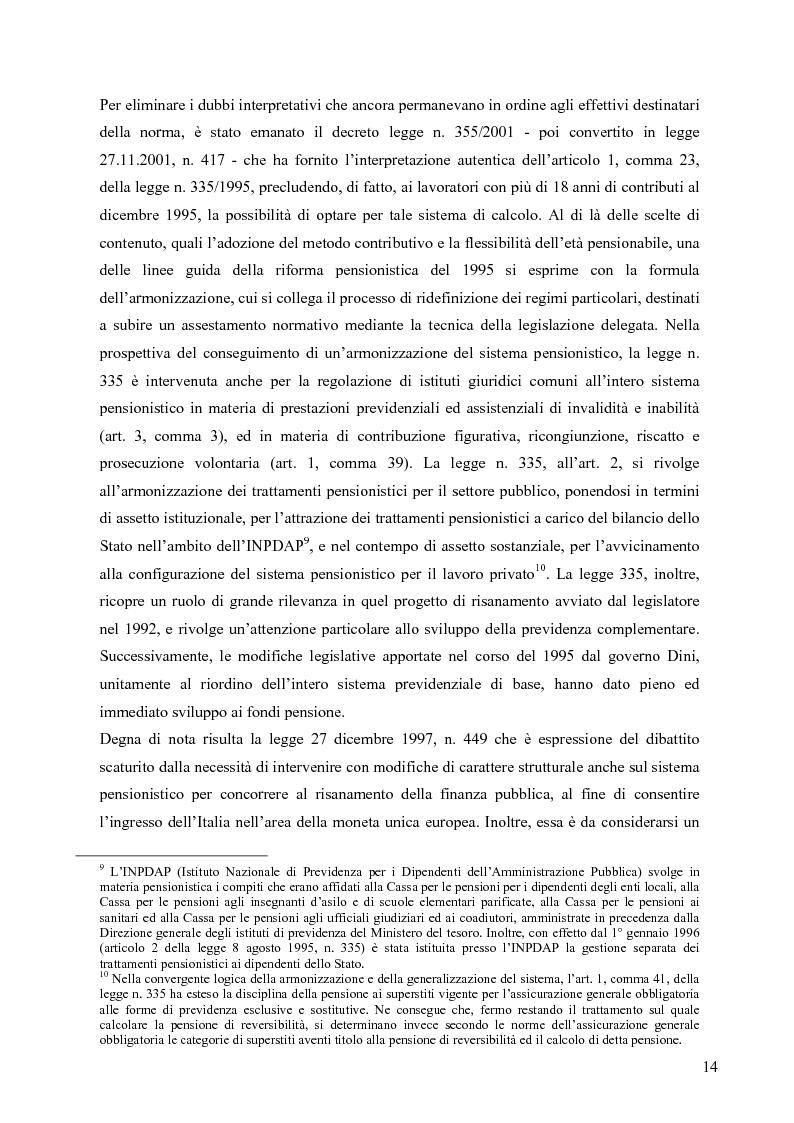 Anteprima della tesi: Effetti della variazione dei tassi di rendimento sull'equilibrio finanziario di un fondo pensione a prestazioni definite, Pagina 10