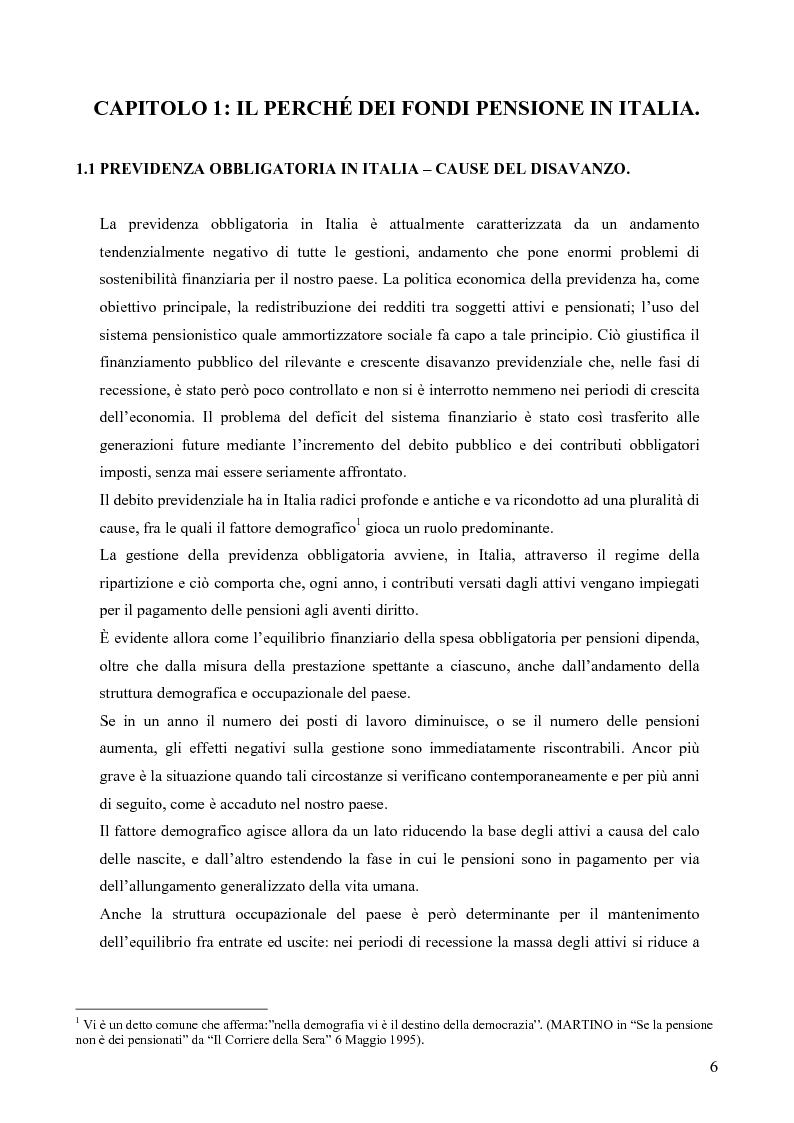 Anteprima della tesi: Effetti della variazione dei tassi di rendimento sull'equilibrio finanziario di un fondo pensione a prestazioni definite, Pagina 2