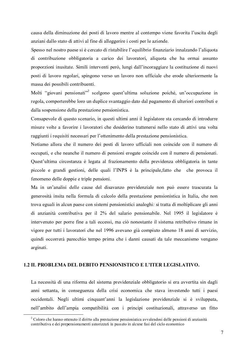 Anteprima della tesi: Effetti della variazione dei tassi di rendimento sull'equilibrio finanziario di un fondo pensione a prestazioni definite, Pagina 3