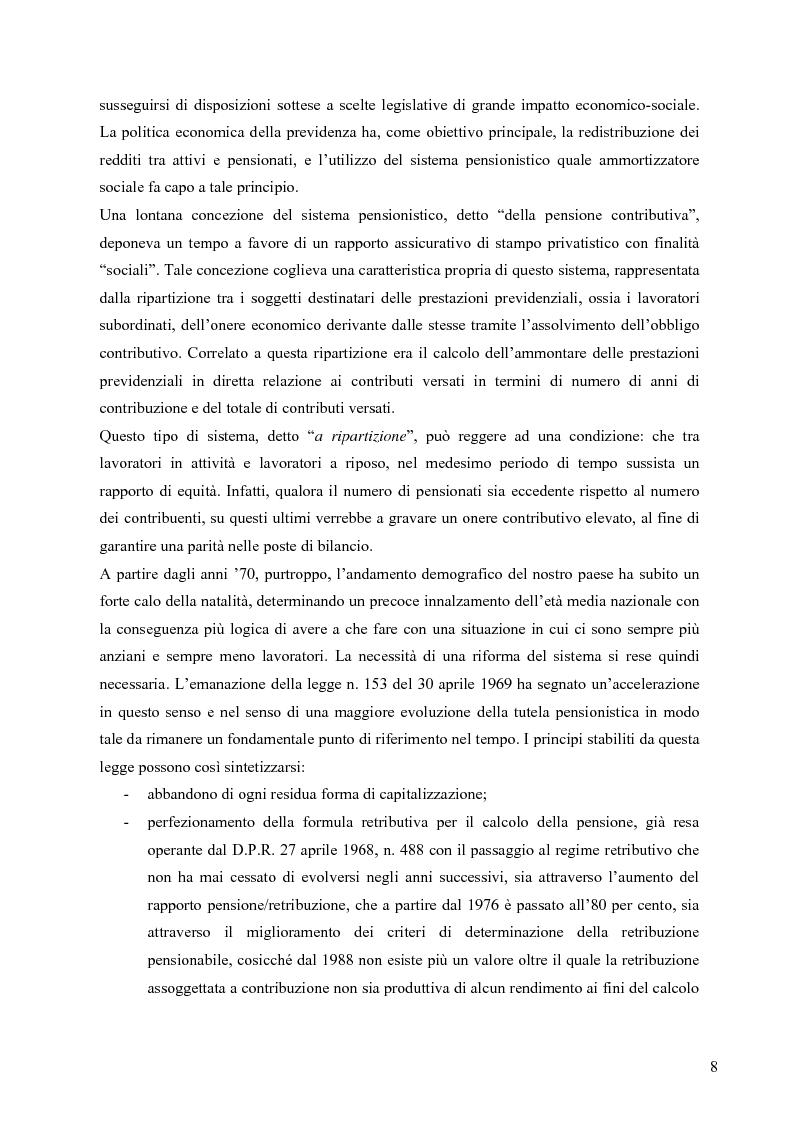 Anteprima della tesi: Effetti della variazione dei tassi di rendimento sull'equilibrio finanziario di un fondo pensione a prestazioni definite, Pagina 4