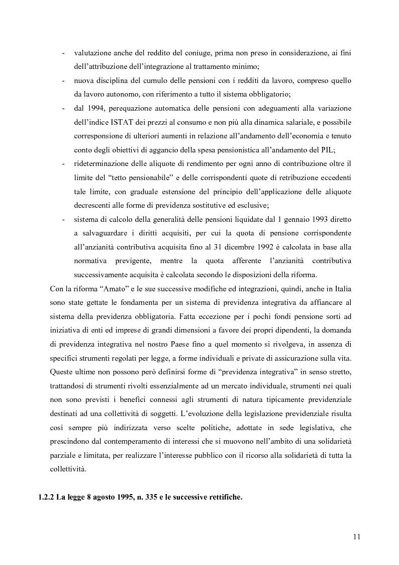 Anteprima della tesi: Effetti della variazione dei tassi di rendimento sull'equilibrio finanziario di un fondo pensione a prestazioni definite, Pagina 7