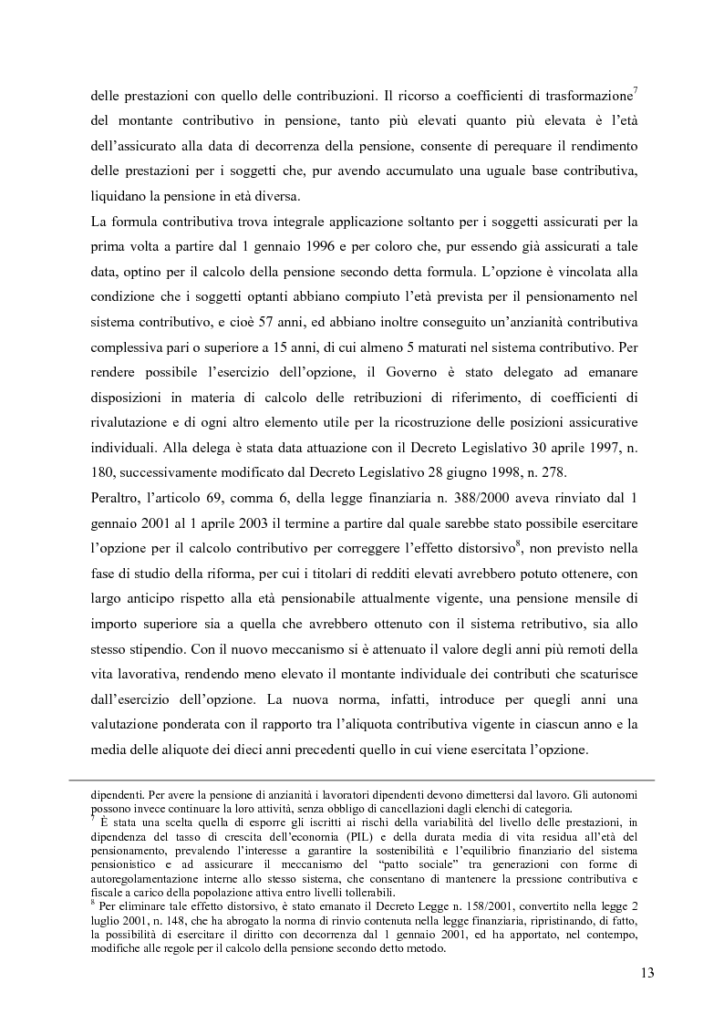 Anteprima della tesi: Effetti della variazione dei tassi di rendimento sull'equilibrio finanziario di un fondo pensione a prestazioni definite, Pagina 9