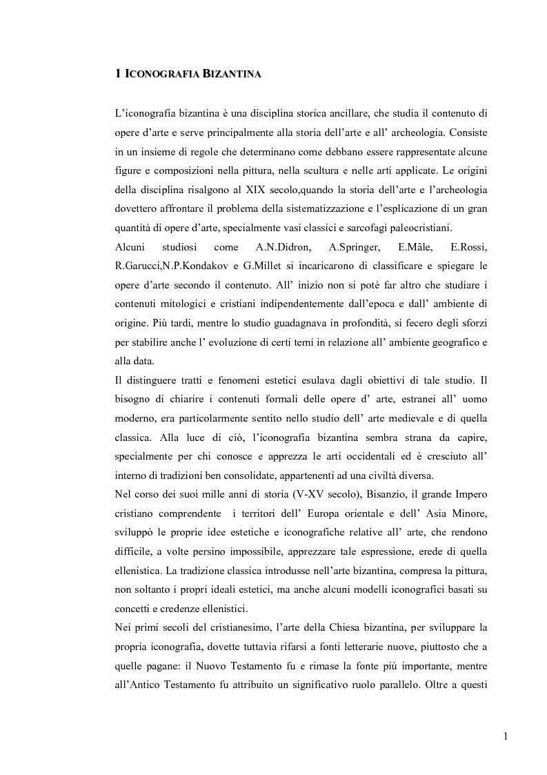 Anteprima della tesi: Le Icone Bizantine, Pagina 1