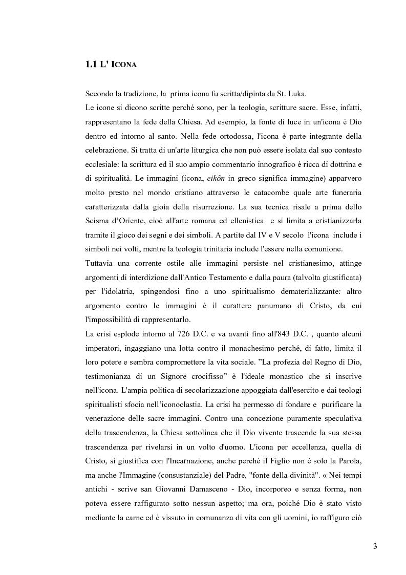 Anteprima della tesi: Le Icone Bizantine, Pagina 3