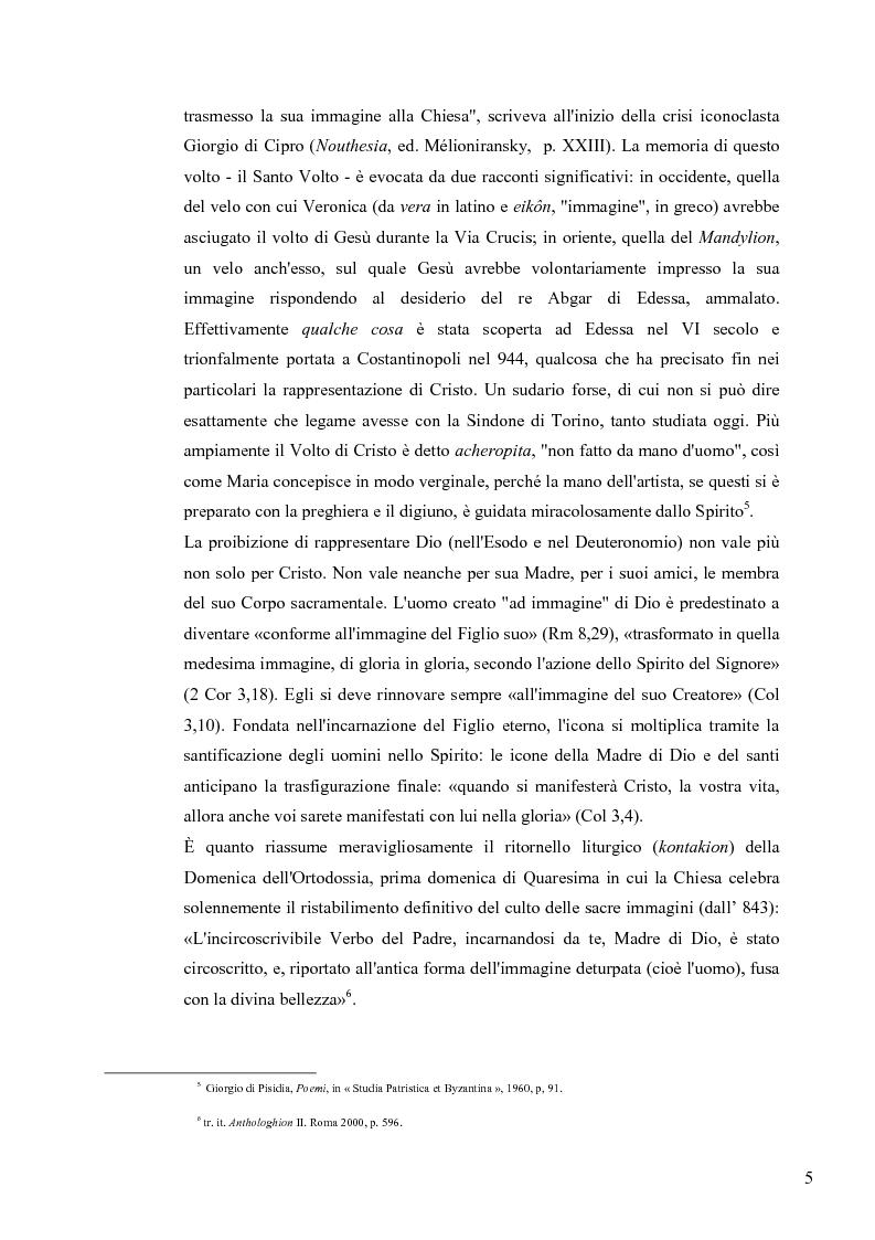 Anteprima della tesi: Le Icone Bizantine, Pagina 5