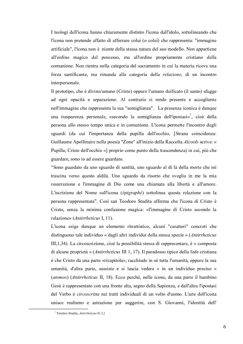 Anteprima della tesi: Le Icone Bizantine, Pagina 6