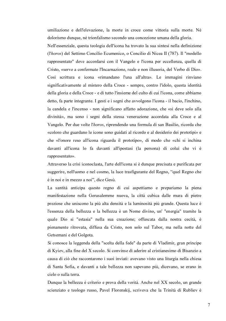 Anteprima della tesi: Le Icone Bizantine, Pagina 7