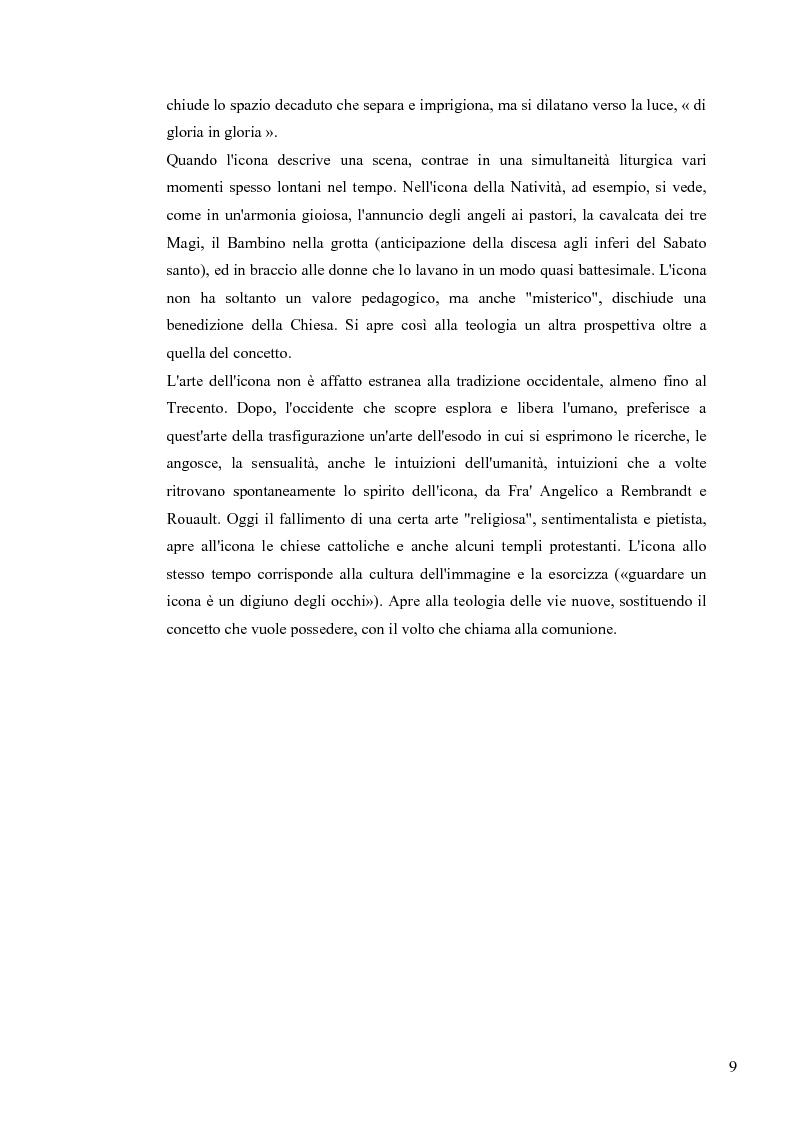 Anteprima della tesi: Le Icone Bizantine, Pagina 9