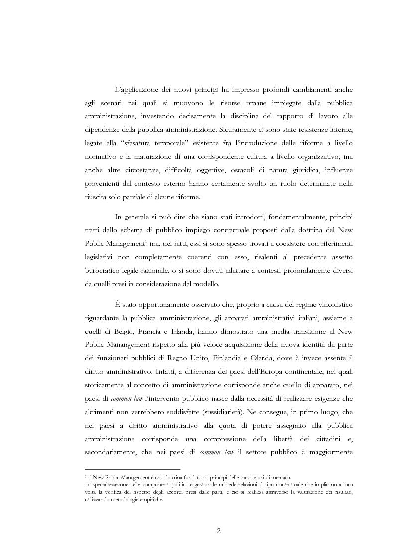 Anteprima della tesi: La valutazione delle risorse umane negli enti locali: il caso del Comune di Siena, Pagina 2