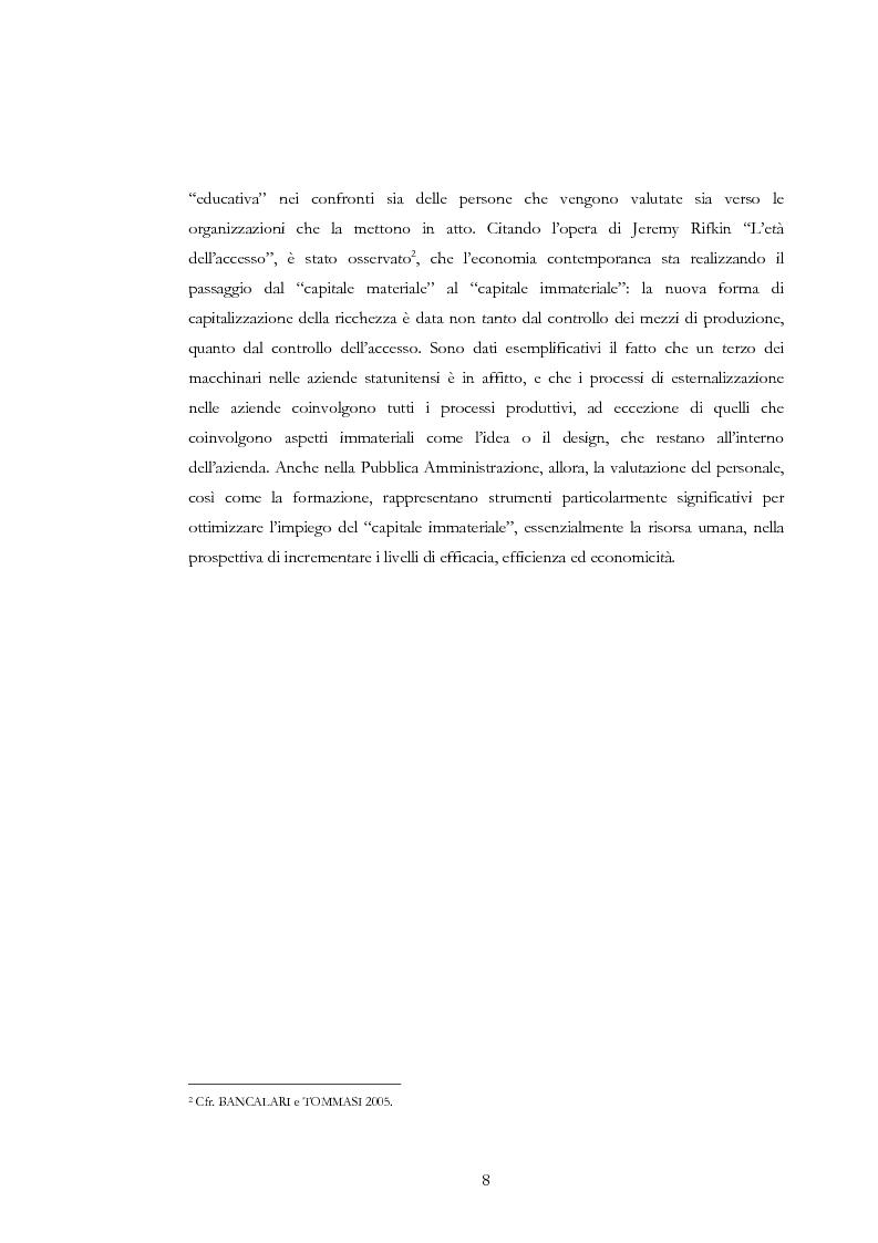 Anteprima della tesi: La valutazione delle risorse umane negli enti locali: il caso del Comune di Siena, Pagina 8