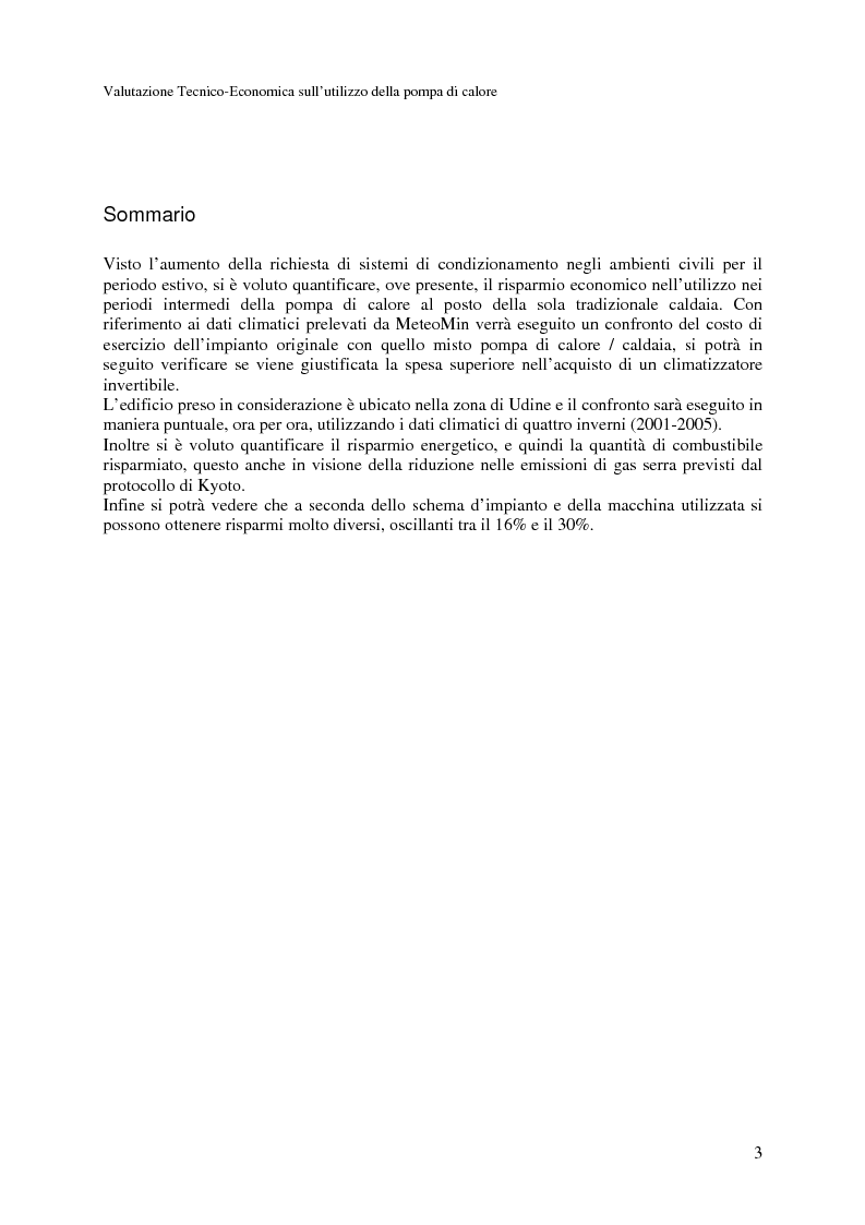 Anteprima della tesi: Valutazione Tecnico-Economica sull'utilizzazione delle pompe di calore nel riscaldamento invernale, Pagina 1