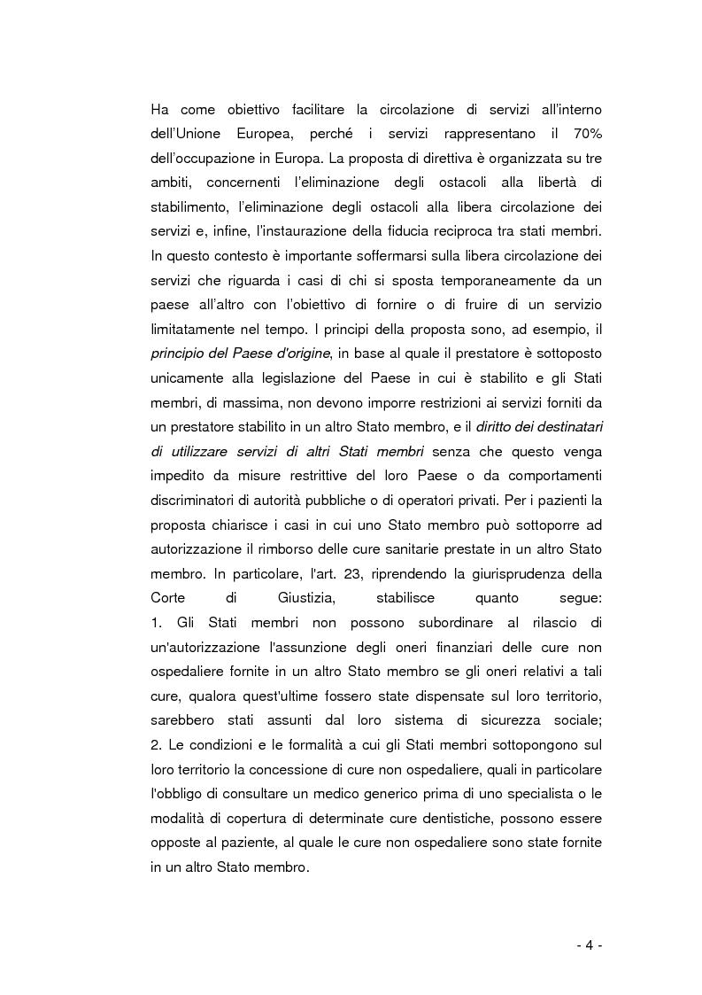 Anteprima della tesi: La libera circolazione dei pazienti nell'Unione Europea, Pagina 3