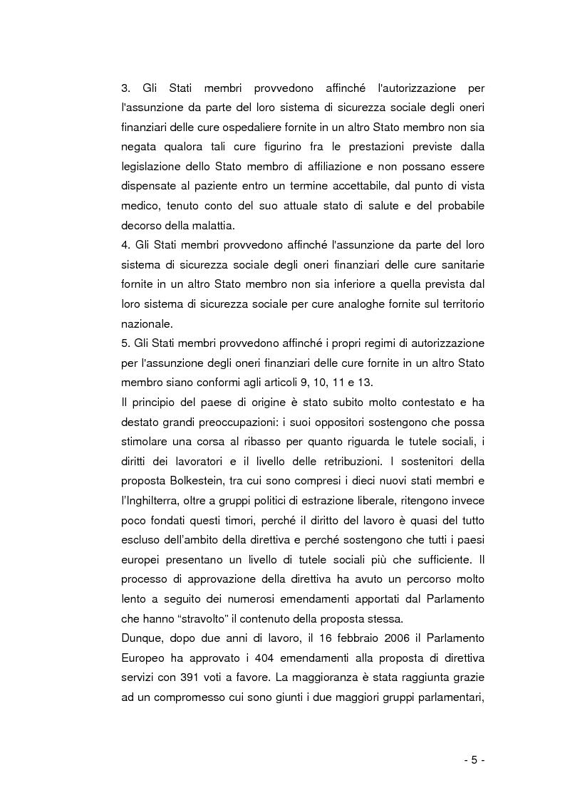 Anteprima della tesi: La libera circolazione dei pazienti nell'Unione Europea, Pagina 4