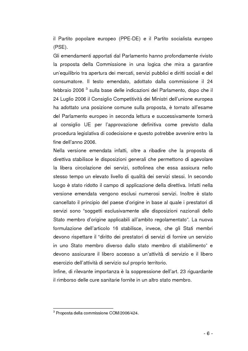 Anteprima della tesi: La libera circolazione dei pazienti nell'Unione Europea, Pagina 5